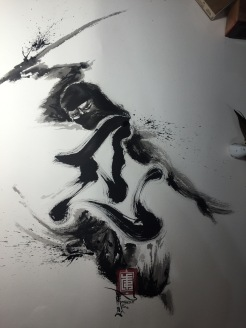 "Sumi on Arches paper ,66x56cm ""Ninpo"" Series."