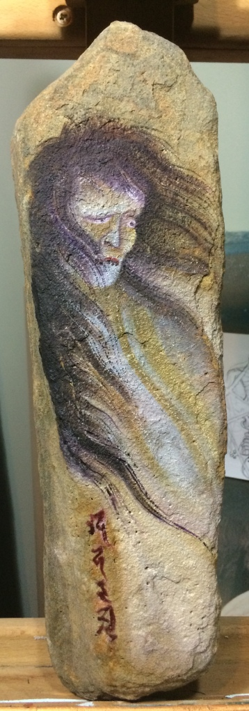 Obake . Oil on Ancient Stone .
