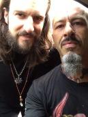 Horikitsune and Mike Athens ,Mahashakti reunion 2014